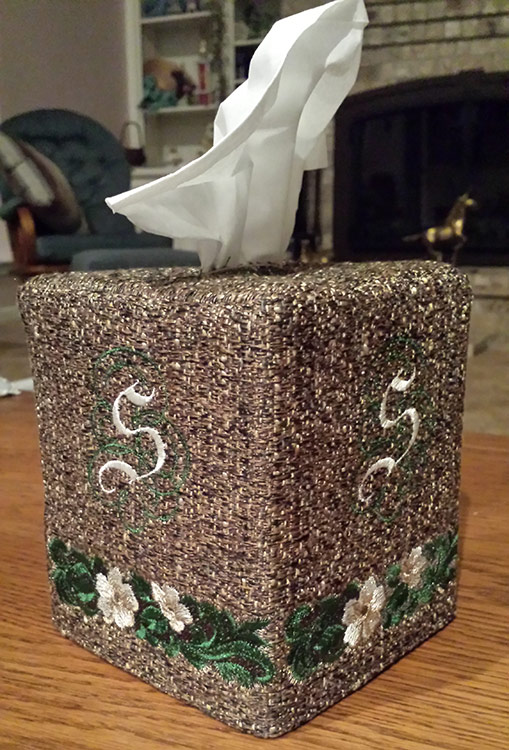 Need a finishing touch to the home décor?  Monogrammed tissue box covers can be a unique and original wedding gift.
